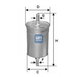 Топливный фильтр (UFI) 3185000