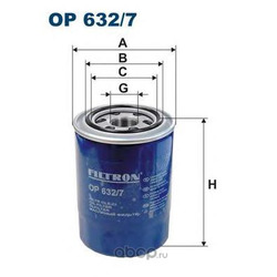 OP632/7 FILTRON Фильтр масляный (Filtron) OP6327