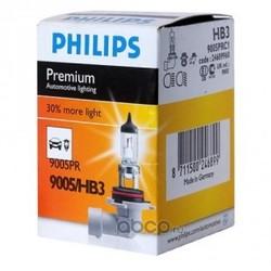 """Лампа накаливания"""" Premium HB3"""" 12В 60Вт (Philips) 9005PRC1"""