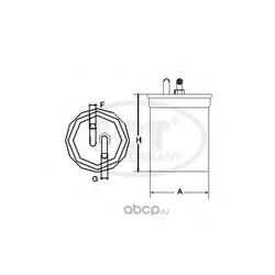 Фильтр топливный (SCT) ST303