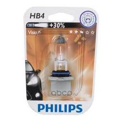 Лампа накаливания HB4 (P22d), 12V 51W, Vision Plus 30%, блистер 1шт (Philips) 9006PRB1