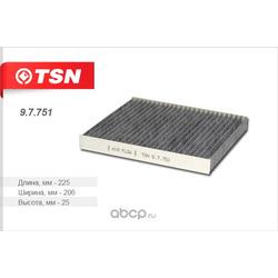 Фильтр салона угольный (TSN) 97751