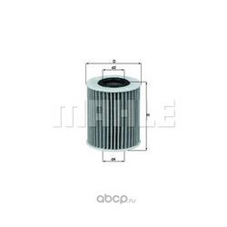 Масляный фильтр (Mahle/Knecht) OX413D1