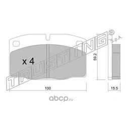 Комплект тормозных колодок, дисковый тормоз (Trusting) 0460