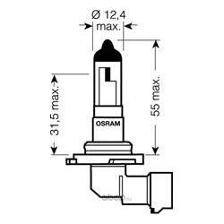 Лампа накаливания, фара дальнего света (Osram) 900601B