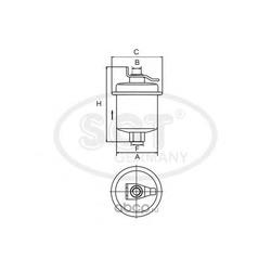 Фильтр топливный (SCT) ST346