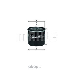 Масляный фильтр (Mahle/Knecht) OC475