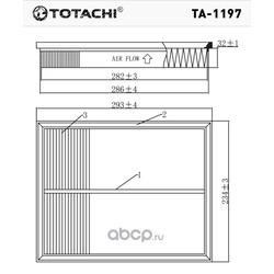 Воздушный фильтр (TOTACHI) TA1197