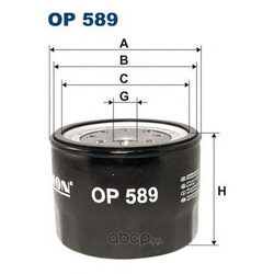 Фильтр масляный (Filtron) OP589