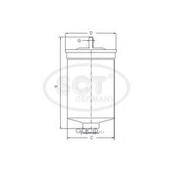 Топливный фильтр (SCT) ST733