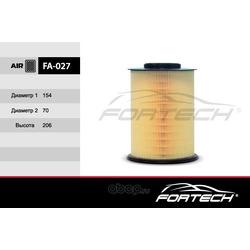 Фильтр воздушный [Фокус, 05г-.. Duratec, Duratorq Di] круглый (Fortech) FA027