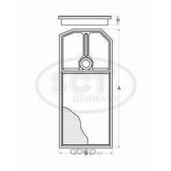 Воздушный фильтр (SCT) SB2163