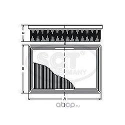 Фильтр воздушный (SCT) SB2243