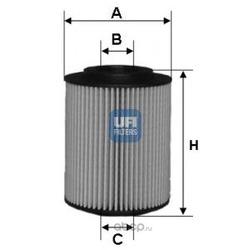 Масляный фильтр (UFI) 2505000