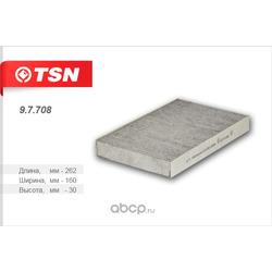 Фильтр салона угольный (TSN) 97708