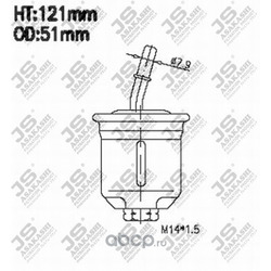 Фильтр топливный (JS Asakashi) FS3203