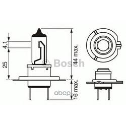 "Лампа галоген"" Plus 50/60 H7"" 12В 55Вт (Bosch) 1987302079"