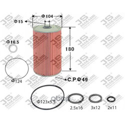Фильтр масляный элемент (JS Asakashi) OE609J
