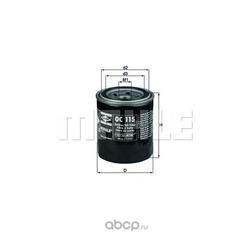 Масляный фильтр (Mahle/Knecht) OC115
