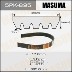 Ремень привода навесного оборудования (Masuma) 5PK895