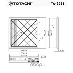 Воздушный фильтр (TOTACHI) TA2721