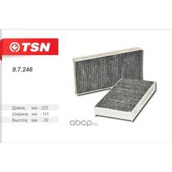 Фильтр салона угольный (TSN) 97246