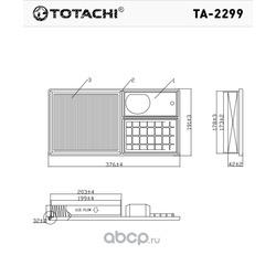 Воздушный фильтр (TOTACHI) TA2428