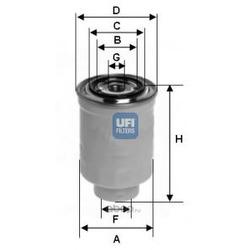 Топливный фильтр (UFI) 2437400