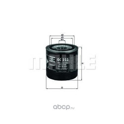 Масляный фильтр (Mahle/Knecht) OC223