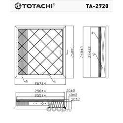 Воздушный фильтр (TOTACHI) TA2720