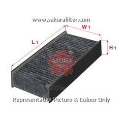 Фильтр салона угольный комплект (Sakura) CAC1609