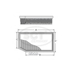 Воздушный фильтр (SCT) SB2096