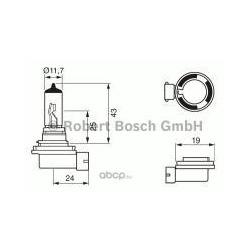ЛАМПА 12 В, 55 Вт (ГАЛОГ) (Bosch) 1987302084