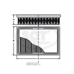 Воздушный фильтр (SCT) SB2196