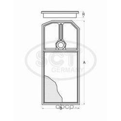 Воздушный фильтр (SCT) SB2281