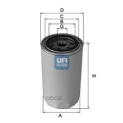 Масляный фильтр (UFI) 2347200