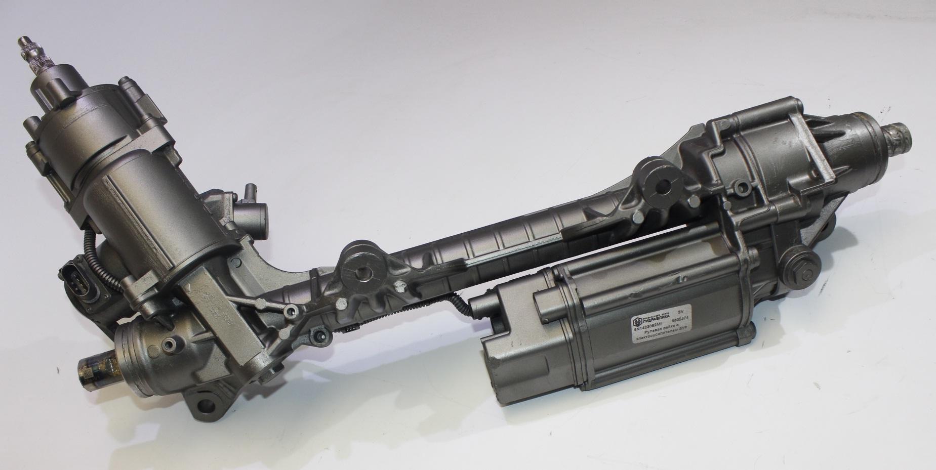 Электрический усилитель (ЭУР) счервячным приводом, встроенным врулевую рейку (двухвальный)